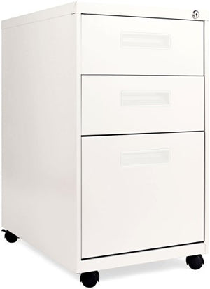 Alera PA53-2823LG PA532823LG Three-Drawer Metal Pedestal File 16w x 23-1/4d x 28-1/2h Light Gray