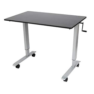 Luxor STANDCF48-AG/BO Stand Up Desk, Silver/Black