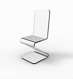 FixtureDisplays Beautiful Acrylic Plexiglass Lucite Z Chair! Best Price Online! 10035-2