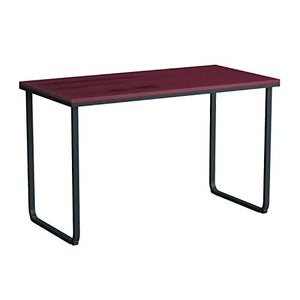 Safco Products 1943CYBL Simple Design Table Desk with Sled Base, Cherry/Black