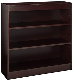 Lorell 3-Shelf Panel Bookcase, 36 by 12 by 36-Inch, Mahogany