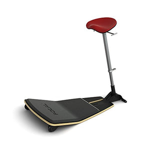 Active Collection FLT-1000-BK-RD Locus Mobile Stand-up Leaning Seat with Foot Rest Platform, Chili Pepper