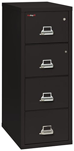 FireKing Legal Safe-in-A-File Fireproof Vertical File Cabinet (3 Drawers, Impact Resistant, Waterproof), Black
