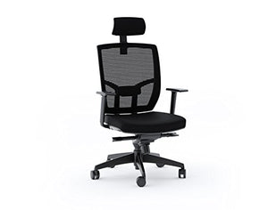 BDI 223DHF B Office Chair, Black Fabric