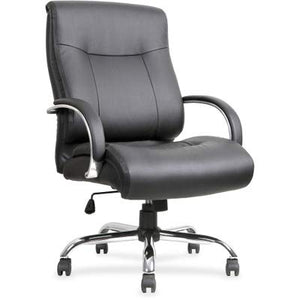 Lorell Leather Deluxe Big/Tall Chair, Black