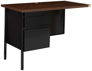 Lorell Single Left Pedestal Desk, 42 by 24 by 29-1/2-Inch, Black Walnut