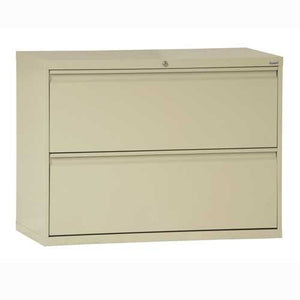 "Sandusky Lee LF8F362-07 800 Series 2 Drawer Lateral File Cabinet, 19.25"" Depth x 28.375"" Height x 36"" Width, Putty"