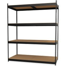 Lorell 99839 Archival Shelving Storage Rack, Black