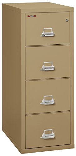 "Fireking Fireproof Vertical File Cabinet (4 Legal Sized Drawers, Impact Resistant, Waterproof), 52 .75"" H x 20.81"" W x 31.56"" D, Sand"
