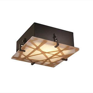 Justice Design Group 3form Clips 2-light Dark Bronze ADA Flush Mount, Connection Shade