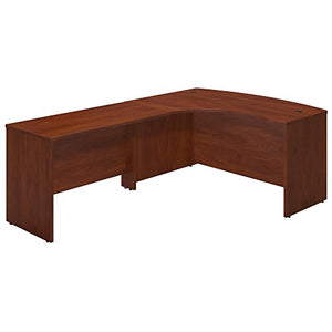 Bush Business Furniture Series C Elite 60W x 43D Left Hand Bowfront Desk Shell with 48W Return in Hansen Cherry