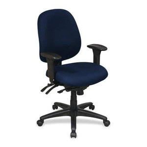 Lorell High-Performance Task Chair, 27-1/4 by 25-1/4 by 41-1/2-Inch, Blue