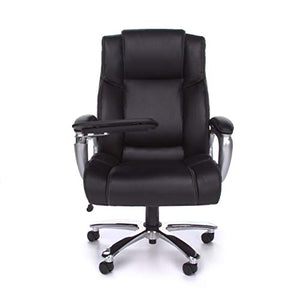 OFM ORO200 Big and Tall Tablet Chair, Black Bonded Leather