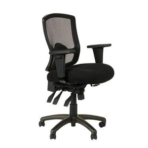 Alera ALEET4017 Etros Series Petite Mid-Back Multifunction Mesh Chair, Black