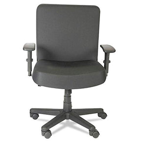 Alera Plus XL Series Big and Tall Mid-Back Task Chair, Black