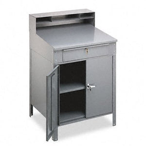 Tennsco Closed Style Desk, 34-1/2-Inch by 29-Inch by 53-Inch, 14-Gauge Steel, Gray