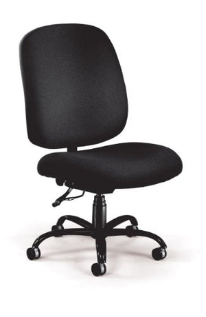 OFM Big and Tall Executive Task Chair - Armless Fabric Office Chair, Black (700-236)