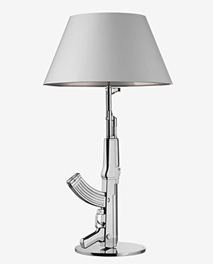 Flos Guns Table Gun Lamp Chrome F2954057 by Philippe Strack 2005