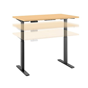 Move 60 Series 48W x 30D Height Adjustable Standing Desk in Natural Maple with Black Base