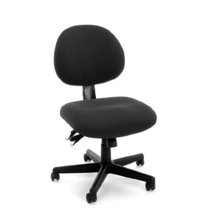 OFM 24-Hour Upholstered Multi-Adjustable Armless Task Chair, Black