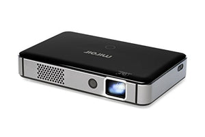 Miroir Smart HD Mini Projector M300A, Surge Series, Android OS with Native Apps Available, LED Lamp, Auto Focus,Built in Rechargeable Battery, HDMI Input and Wireless Input