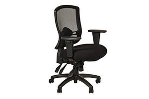 Alera ALEET4217 Etros Series Mid-Back Multifunction with Seat Slide Chair, Black