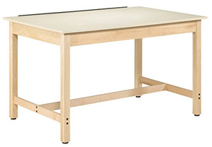 "Diversified Woodcrafts IDT-102 Instructors Art and Drafting Table with Dovetailed Drawers and Plastic Laminate Top, 60"" Width x 37"" Height x 37-1/2"" Depth"