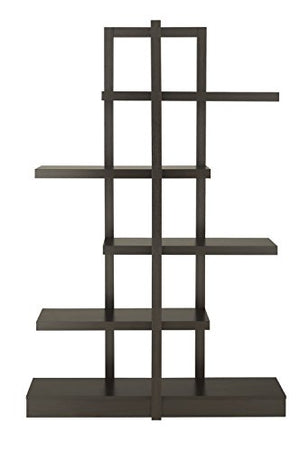 ioHOMES Lydia 5-Shelves Display Stand, Cappuccino