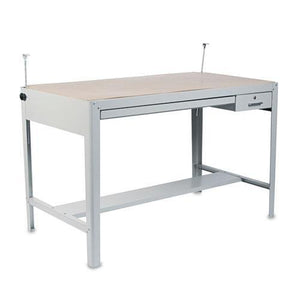 SAFCO Products 3962GR Precision Four-Post Drafting Table Base, 56-1/2w x 30-1/2d x 35-1/2h, Gray