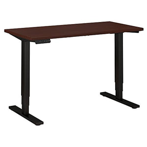 Move 80 Series by Bush Business Furniture 48W x 24D Height Adjustable Standing Desk in Harvest Cherry with Black Base