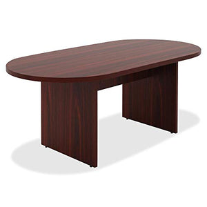 Lorell 34336 Chateau Conference Table, Mahogany Laminate