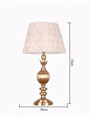 CJSHVR-Luxury European modern bedroom bedside lamp, copper lamp, copper lamp style, the living room became retro copper lamp