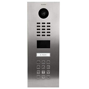 DoorBird IP Video Door Station D2101KV, Stainless Steel V2A Brushed - grinding dust resistant - 1 Call button- Keypad - POE Capable