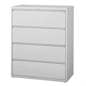 Scranton & Co 4 Drawer Lateral File Cabinet in Gray