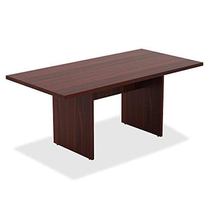 Lorell 34340 Chateau Conference Table, Mahogany Laminate