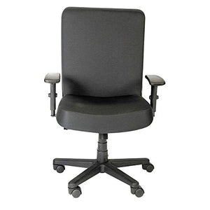 Alera Plus Big and Tall High-Back Task Chair, Black