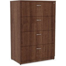 Lorell 34388 Essentials Lateral File, Walnut Laminate