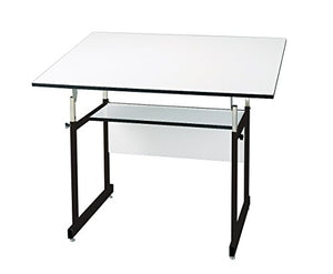 "Alvin WMJ48-3-XB Workmaster Jr. Table, Black Base White Top (36"" x 48"")"
