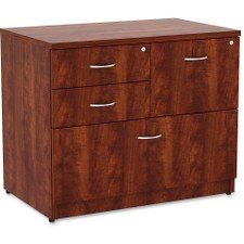 Lorell 69540 Prominence Lateral File, Cherry Laminate Top