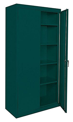 Sandusky Lee Commercial Grade All Welded Steel Cabinet - 36in.W x 18in.D x 72in.H, Light Gray, Model# CA41361872-05