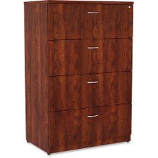 Lorell 34387 Essentials Lateral File, Cherry Laminate