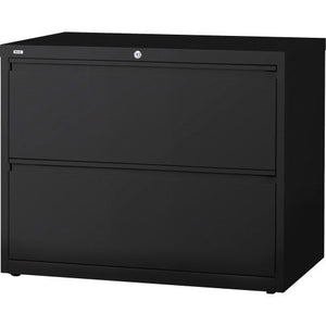 Lorell 2-Drawer Lateral File, 36 by 18-5/8 by 28-1/8-Inch, Black