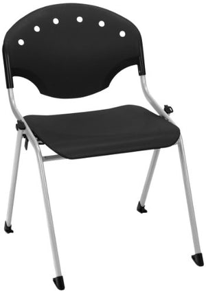 "OFM 305-P0 Rico Stack Chair, 18"" Height, Black (Pack of 4)"