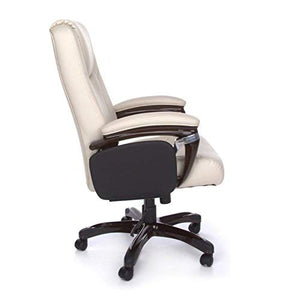OFM Tablet Manager Polyurethane Chair, Cream