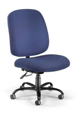 OFM Big and Tall Executive Task Chair - Armless Fabric Office Chair, Navy (700-237)