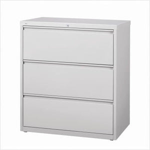"Hirsh HL10000 Series 30"" Wide 3 Drawer Lateral File Cabinet in Putty"