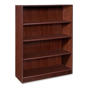 Lorell 4-Shelf Bookcase, 36 by 12-1/2 by 48-Inch, Mahogany