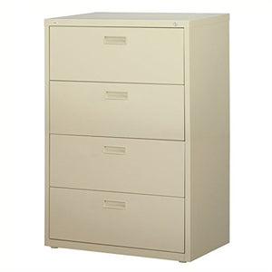 Scranton & Co 4 Drawer Lateral File Cabinet in Putty