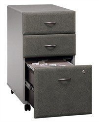 Bush Business Series A 3Dwr Mobile Pedestal in Pewter