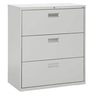 "Sandusky Lee LF6A363-05 600 Series 3 Drawer Lateral File Cabinet, 19.25"" Depth x 40.875"" Height x 36"" Width, Dove Gray"
